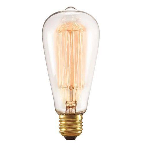 Lâmpada Filamento Carbono Retrô St64 220V Maquifer