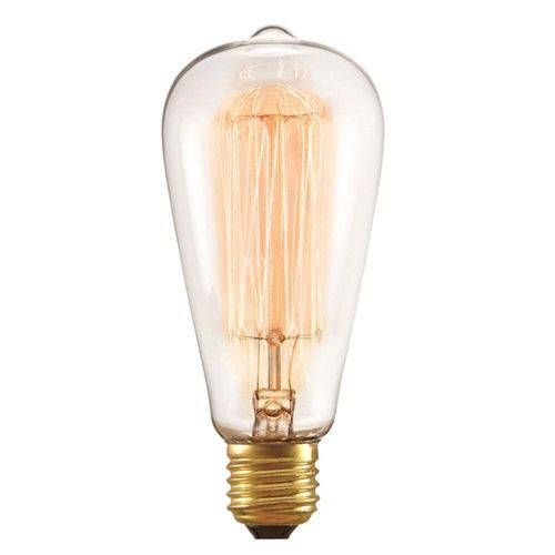 Lâmpada Filamento de Carbono 40w 220v E27 Taschibra St64 - Filamento St64