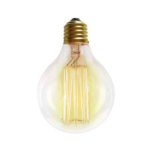 Lâmpada Filamento de Carbono G80 40w 127v Amarela Taschibra