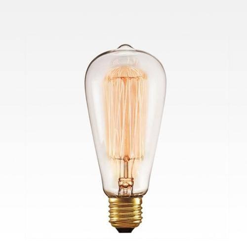Lâmpada Filamento de Carbono St64 40w 2200k 127v