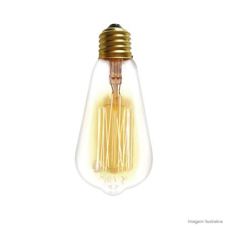Lâmpada Filamento de Carbono ST64 40W 127V Amarela Taschibra