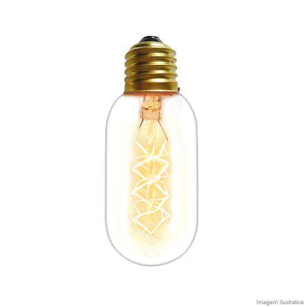 Lâmpada Filamento de Carbono T45 40W 220V Amarela Taschibra