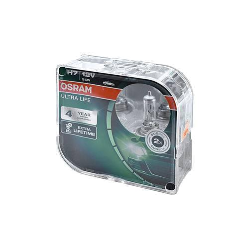 Lâmpada H7 Ultra Life Osram 64210ULT Halógena 12v 55w com Base PX26D