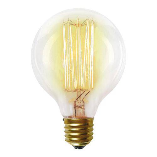 Lâmpada Incandescente Taschibra 40w Filamento Carbono 220v G80