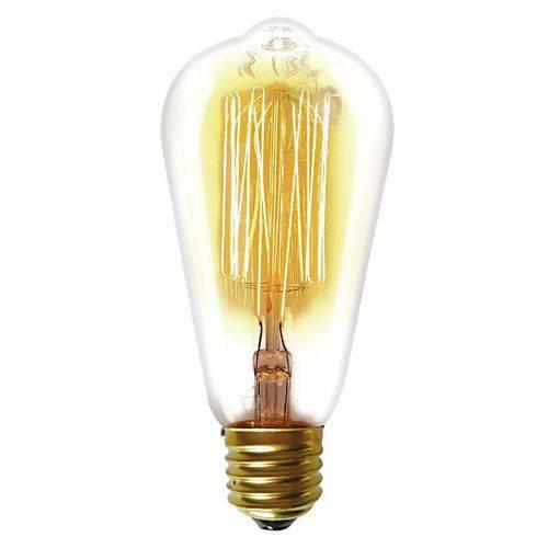 Lâmpada Incandescente Taschibra 40w Filamento Carbono 220v St64