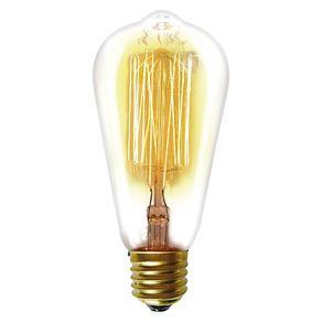 Lâmpada Incandescente Taschibra 40W Filamento Carbono 127V ST64