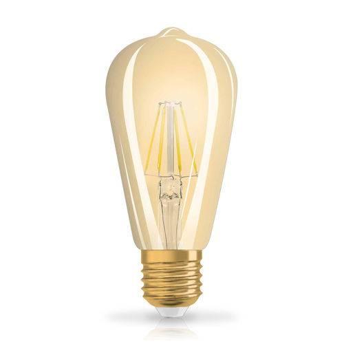 Lâmpada Led Âmbar Edison Filamento 4.5w E27 2500k Luz Amarela Bivolt Vintage 1906 Osram