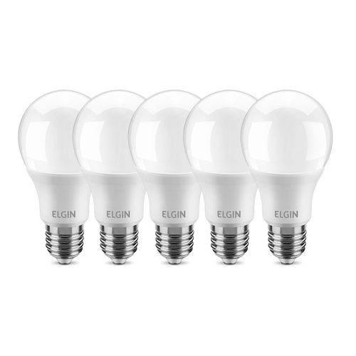 Lâmpada LED Bulbo 9W A60 Branca 6500K -ELGIN KIT C/5
