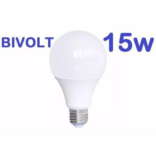 Lâmpada Led Bulbo E27 15w Bivolt Branco Frio