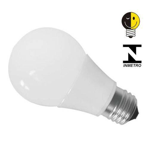 Lâmpada Led Bulbo E27 7w Branco Quente Certificada