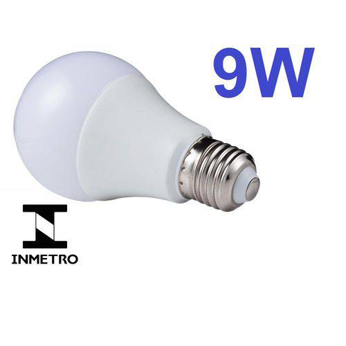 Lâmpada Led Bulbo E27 Bivolt 6000k Branco Frio 9w