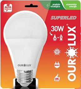 Lâmpada LED Certificada Ourolux Bulbo 30W Branco Bivolt