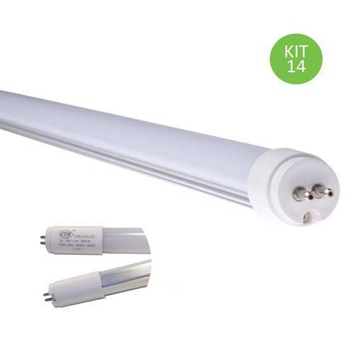 Lâmpada Led Tubular T5 18w 115cm Bivolt Branco Frio Kit 14