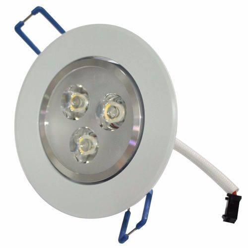 Lampada Spot Direcionável 3w Led Branco Frio Teto Sanc Gesso