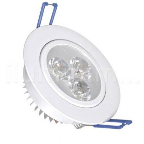 Spot Embutir 5w Leds Luminária Inclinável Branco Frio