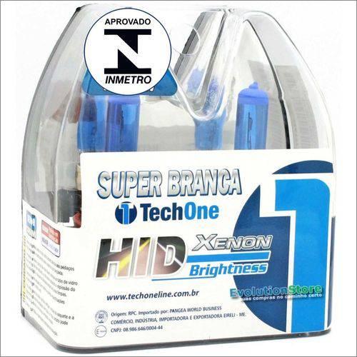 Lampada Super Branca H1 55w 8500k Tech One