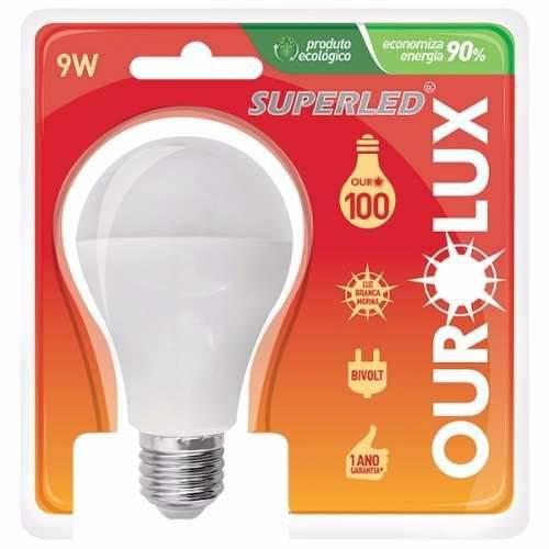 Lâmpada Super Led 9W 2700K Branco Morno Biv Ouro100 Ourolux