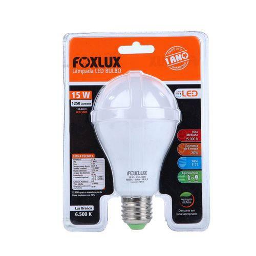 Lâmpada Super Led A60 15w Branca Bivolt E27 Foxlux