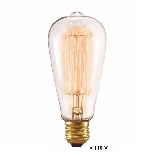 Lâmpadas Filamento Carbono Retrô St64 40w 127v Taschibra 10x