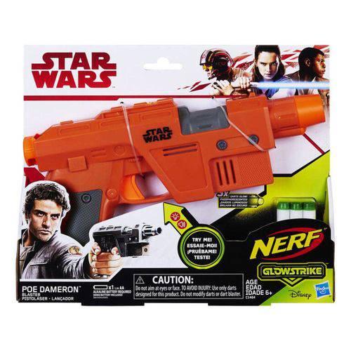 Lança Dardos Nerf Brilha Escuro Star Wars Poe Ep8 Dameron Hasbro
