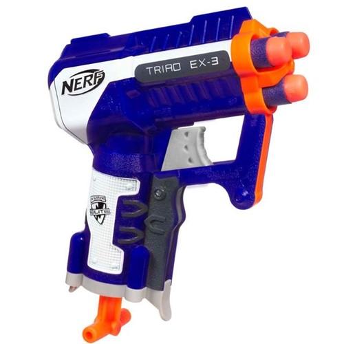 Lança Dardos Nerf N-Strike Elite Triad EX-3 Hasbro Azul