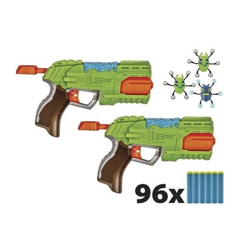 Lançador de Dardos Bug Attack 2x Rapid Fire 5559 Candide Verde Verde