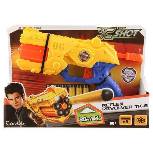 Lancador X-Shot Reflex Revolver Tk-6 - Candide