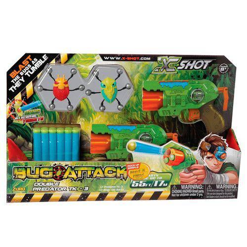 Lançadores de Dardos Bug Attack Double Predator 12 Dardos Candide