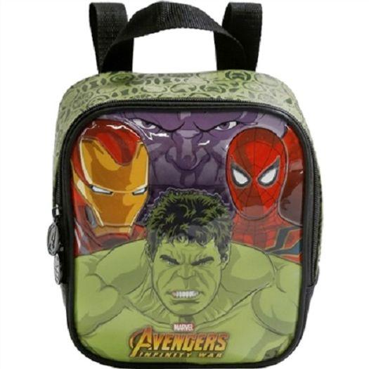 Lancheira Avengers Brawler - Verde 7484 Xeryus