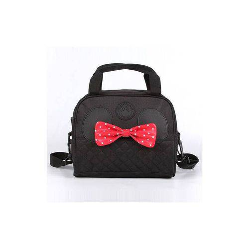Lancheira Cooler Preto Bow Minnie Mouse Disney - 90th Years Limited Edition