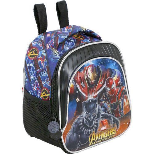 Lancheira Infantil Xeryus Avengers Armored Preta e Azul