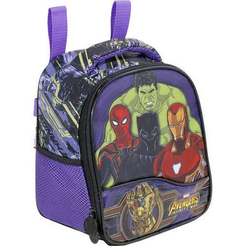 Lancheira Infantil Xeryus Avengers Infinity Light Lilás e Roxa