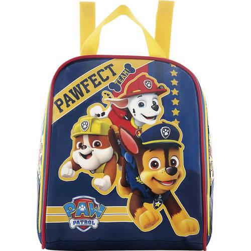 Lancheira Patrol Pawfect 7284, em PVC com Puxadores Personalizados, Amarelo -Xeryus