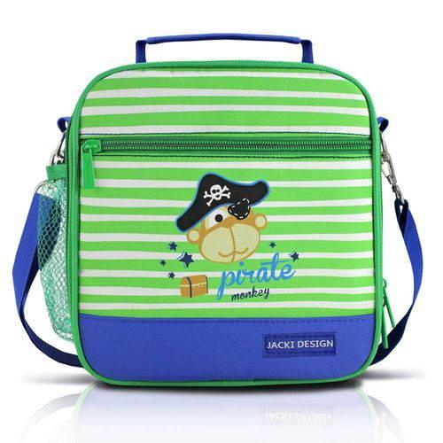 Lancheira Termica Escolar Bolsa Alça Ajustavel Menino Jacki Design Pirata Azul Único