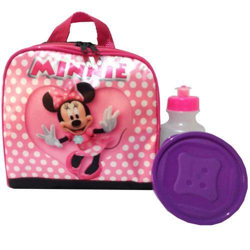Lancheira Térmica Minnie Mouse com Potinho e Garrafinha