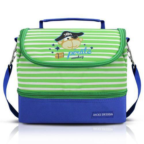 Lancheira Térmica Infantil Azul/ Verde Jacki Design