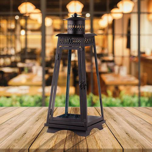 Lanterna Decorativa - 30cm - Preta