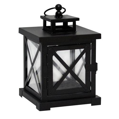 Lanterna Decorativa - 21cm - Preta
