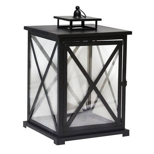 Lanterna Decorativa - 45cm - Preta
