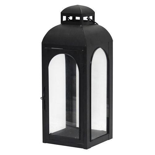 Lanterna Decorativa - 43cm - Preta