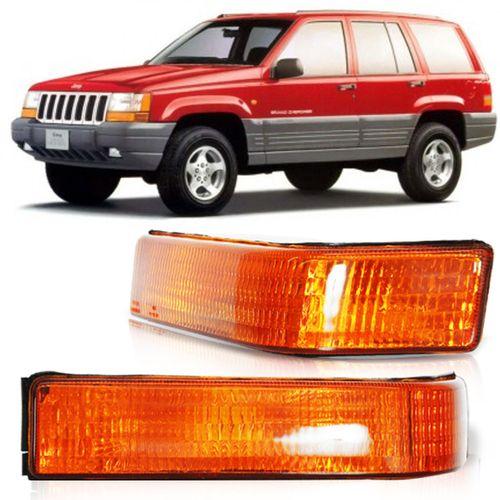 Lanterna Dianteira Pisca Seta Grand Cherokee 1993 a 1998 Ambar Inferior Lado Esquerdo Motorista