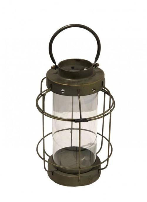 Lanterna Metal Dourada 44cm - Occa Moderna