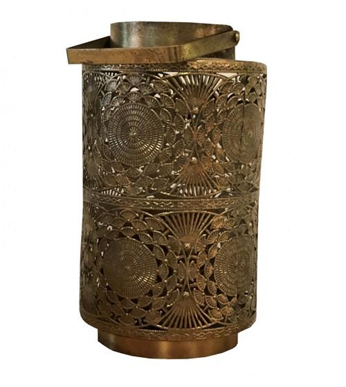 Lanterna Metal Dourada 33cm - Occa Moderna