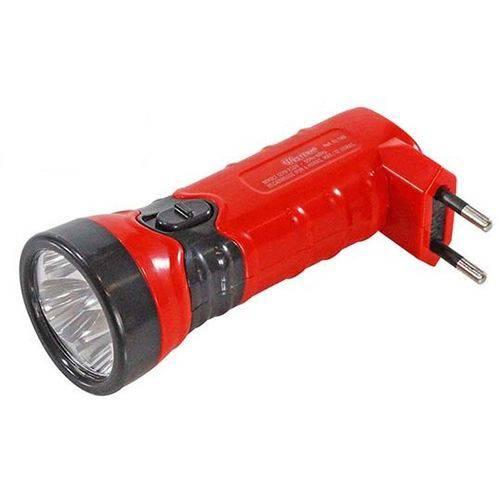 Lanterna Recarregavel Bivolt com 4 Leds 12cm