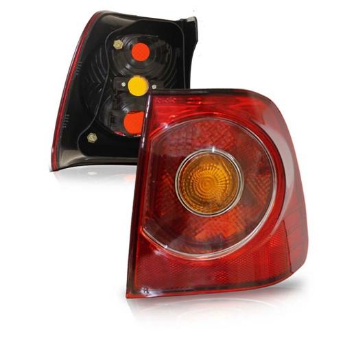 Lanterna Traseira Polo Sedan 2007 2008 2009 2010 2011 2012 Canto Rubi