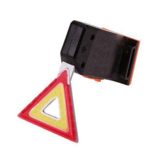 Lanterna Triangulo para Bicicleta Traseira Led Cob USB Slim