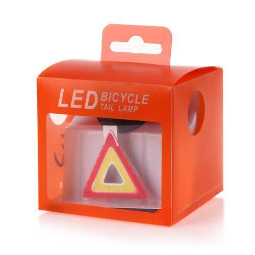 Lanterna Triangulo para Bicicleta Traseira Led Cob Usb Slim Recarregável