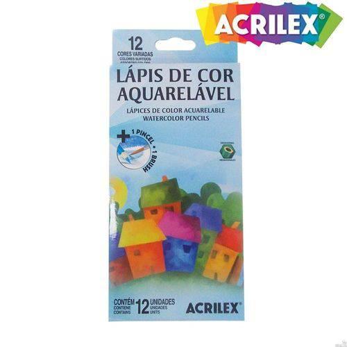 Lápis 12 Cores Acrilex Aquarelável