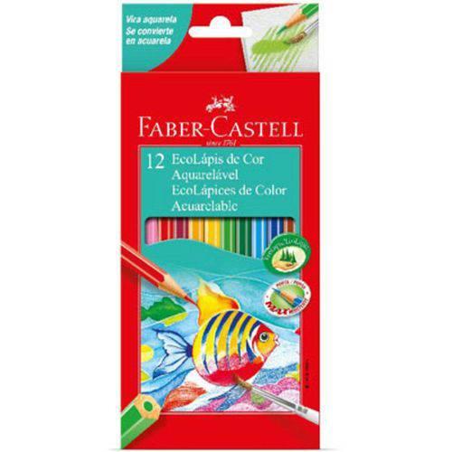 Lápis 12 Cores Ecolápis Aquarelável - Faber Castell