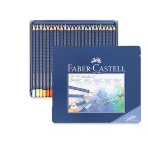 Lápis Aquarela Art Grip Estojo com 24 Cores Ref.114224 Faber-Castell